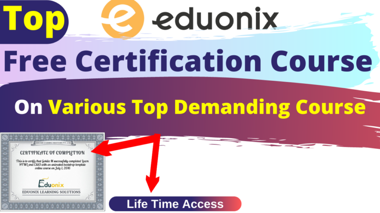 Top Free Certification Course By Eduonix.